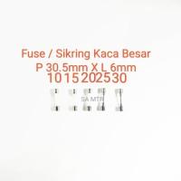fuse sekring sikring kaca glass besar 10amp 15amp 20amp 25amp 30amp