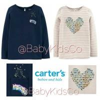 ORIGINAL Kaos Carter's Flip Sequin Tee - baju anak carter carters gap