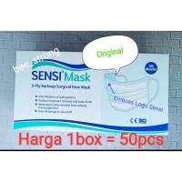 Masker Sensi Earloop 3 Ply 50 Pcs