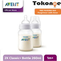 Botol Susu Philips AVENT Classic Plus 260ml Twin Pack - Isi 2