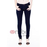 Celana Panjang Jeans Pensil Wanita Skinny Navy Gold stretch - Dahlia