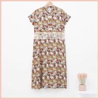 Lunaci Mocca White Leaves Bella Dress