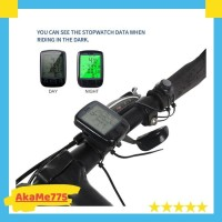 Speedometer Odometer Sepeda LED anti air Waterproof Merk SUNDING ORI