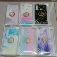 softcase casing Case motif Glitter marbel plus iring redmi note 8