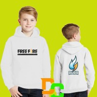 Jaket sweater hoodie anak Free Fire Team AURA
