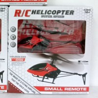 Mainan Rc Helikpter- Remote Control Helicopter-kuninh - Merah