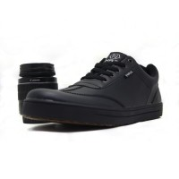 sepatu full black pria sneakers olahraga santai nz 220 - Hitam, 38