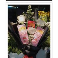 Snack Bouquet with Rose | Snack Bouquet | Buket Makanan