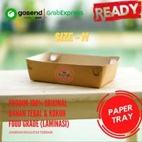 Paper Tray size M (18x12.5x5) / Kraft Tray / Food Tray