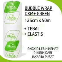 PLASTIK BUBBLE WRAP DKM+ GREEN 125CM X 50M