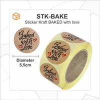 Stiker Kraft Made / Baked With Love | Sticker Label Seal Decor