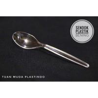 sendok plastik bening / sendok makan bening isi 25