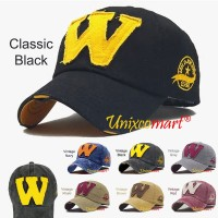 W Logo Jokers Topi Baseball Hat Cap Casual Sport Distro Vintage