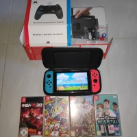 Nintendo switch V1 VER TERBARU OFW Bundle game dan aksesoris MURAH!!!