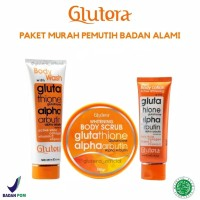 PAKET BODY CARE GLUTERA - GLUTERA BODY WASH + SCRUB + BODY LOTION