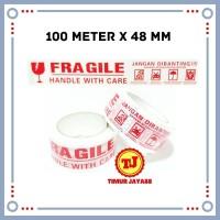 Lakban Fragile 100 Meter Jangan Di Banting Solatip Fragil Isolasi 100M