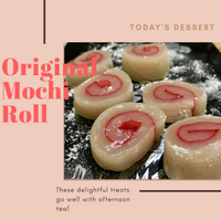 original mochi gulung homemade natural ingredient gluten fre