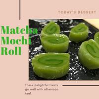 matcha mochi gulung homemade natural ingredient gluten fre