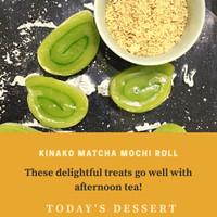 kinako matcha mochi gulung homemade natural ingredient gluten fre