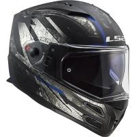 LS2 FF324 Metro Evo Matt Black Titanium | Helm Modular | Helm Full Fac