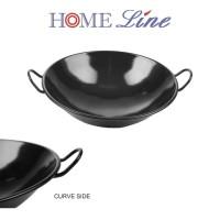 HOMELINE KUALI BAJA / ENAMEL HITAM 40 cm / 40cm wok wajan anti lengket