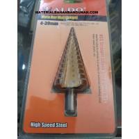 Mata Bor Pagoda Payung 4 - 39 mm Bor Susun Multi Step Cone Drill