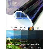 KACA FILM RIBEN HITAM ( TOLAK PANAS/UV DAN MELINDUNGI KACA )