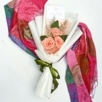 TRIPLET ROSE BOUQUET -Buket Wisuda -Buket Snack -Buket Bunga Kertas