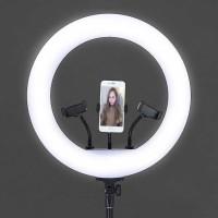 Lampu Halo Ring Light LED Kamera 18 Inch 3xHolder - JY-460B