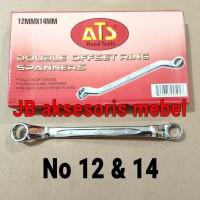 KUNCI RING RING No 12x14 merk ATS / KUNCI RING RING No 12 & 14