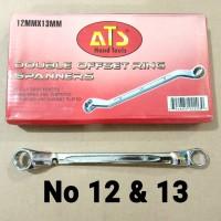 KUNCI RING RING No 12x13 merk ATS / KUNCI RING RING No 12 & 13