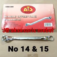 KUNCI RING RING No 14x15 merk ATS / KUNCI RING RING No 14 & 15