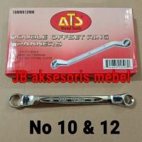 KUNCI RING RING No 10x12 merk ATS / KUNCI RING RING No 10 & 12