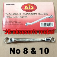 KUNCI RING RING No 8x10 merk ATS / KUNCI RING RING No 8 & 10