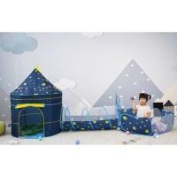 Tenda Bola Castle Moon 3in1 - Tenda Mainan Anak Tenda Jumbo MOON STAR