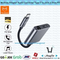 Mcdodo Adapter Audio Converter Type C to Aux Jack 3.5mm Call PD 60W
