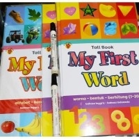 Sale Bilingual Tall Book My First Word for kid Buku Besar Inggris Ind