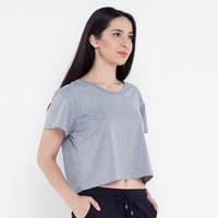 Harga Promo Spesial Kaos Wanita Lambo G Crop Top T-shirt TS1010