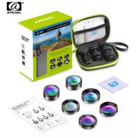 APEXEL 6 in 1 Lensa HP Wide Angle macro Lens Fish Eye CPL/Star Filter