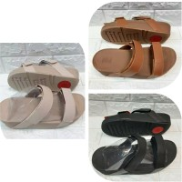 Sendal Selop Wanita Fitflop Shiny Leather