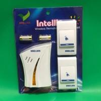 Bel Pintu Wireless 2 Remot/Bel Rumah 2 Tombol/Doorbel Wireless