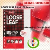 LOOSE LEAF B5 / KERTAS BINDER A5 FREE ONGKIR ISI 100 LEMBAR - A5 100 LEMBAR