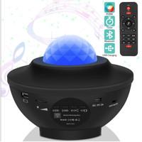 Lampu Tidur Proyektor Langit Bintang Bluetooth + Remote + Auto Off