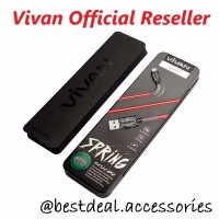 VIVAN FM100 Data Cable 2.4A 1M Spring Micro USB for Android