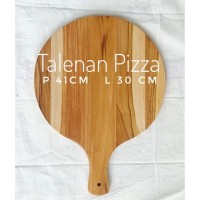 Talenan Pizza kayu, Talenan kayu Jati bulat besar,