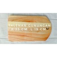 Talenan kayu Mahoni gunungan murah, alat dapur kayu tradisional