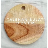 Talenan Kayu Bulat Diameter 25 cm, Talenan Kayu bahan Kayu Pinus
