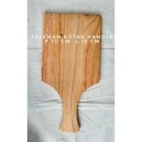 Talenan kayu kotak persegi pegangan panjang, Talenan kayu pinus