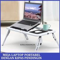 Meja Laptop Lipat Portable Dengan Kipas Pendingin Meja Kipas Laptop