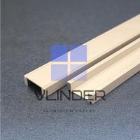 Aluminium U Showcase untuk Etalase Kaca